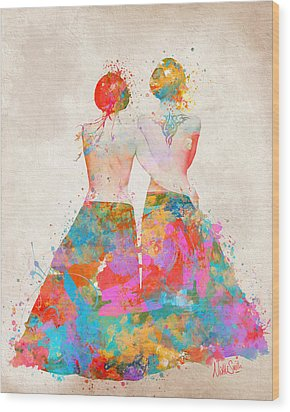 Wood Print featuring the digital art Pride Not Prejudice by Nikki Marie Smith
