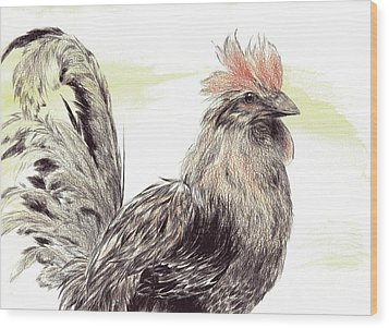Pride Of A Rooster Wood Print