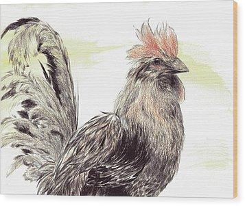 Pride Of A Rooster Wood Print