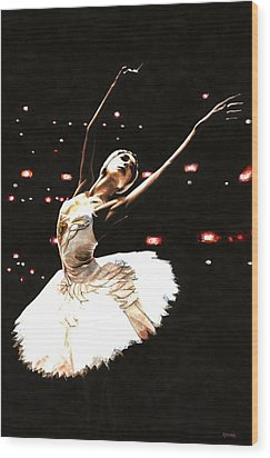 Prima Ballerina Wood Print by Richard Young