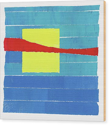 Wood Print featuring the photograph Primary Stripes Collage by Carol Leigh