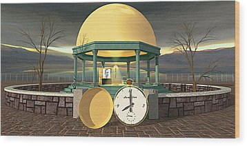 Prime Time Shrine Wood Print by Peter J Sucy