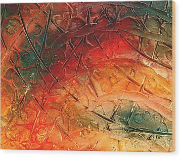 Primitive Abstract 1 By Rafi Talby Wood Print by Rafi Talby