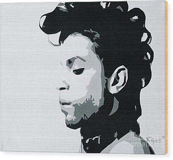 Wood Print featuring the painting Prince by Ashley Price