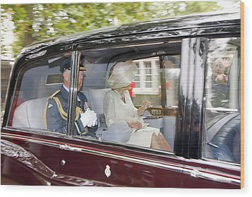 Prince Charles And Camilla Wood Print