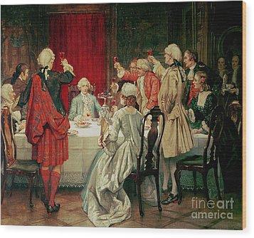 Prince Charles Edward Stuart In Edinburgh Wood Print by William Brassey Hole