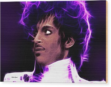 Wood Print featuring the digital art Prince - His Royal Badness by Stephen Younts