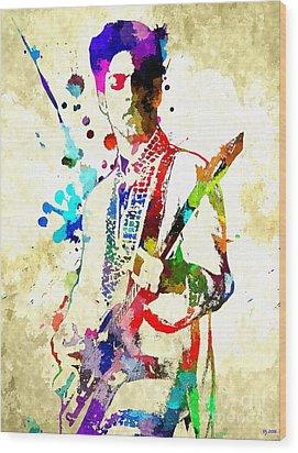 Prince In Concert Wood Print