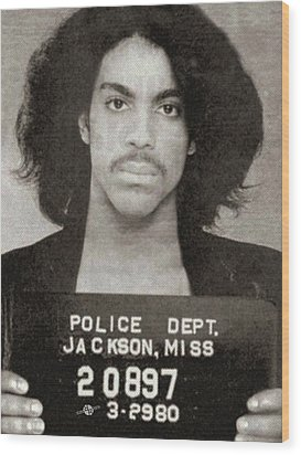 Prince Mug Shot Vertical Wood Print