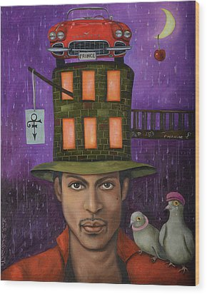 Prince Pro Image Wood Print by Leah Saulnier The Painting Maniac