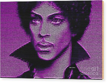 Prince - Tribute In Purple Wood Print