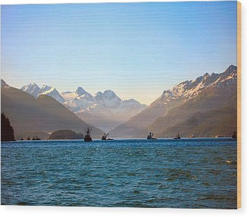 Wood Print featuring the photograph Prince William Sound Fishing Seiners by Adam Owen
