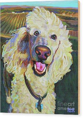 Princely Poodle Wood Print