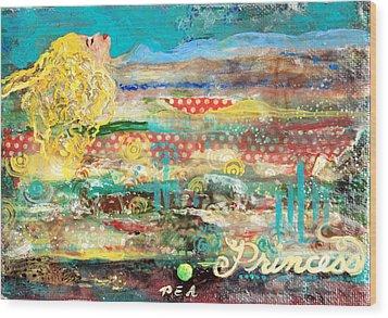 Princess And The Pea Wood Print by Jennifer Kelly