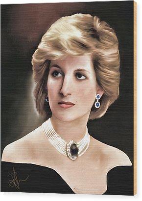 Princess Diana Wood Print by Pennie  McCracken