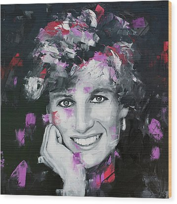Wood Print featuring the painting Princess Diana by Richard Day