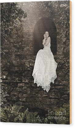 Princess In The Tower Wood Print