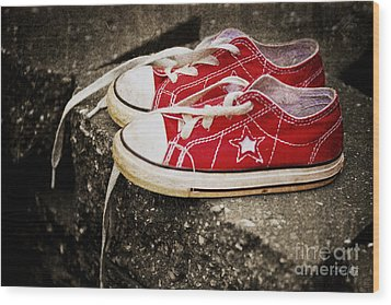 Princess Shoes Wood Print by Scott Pellegrin