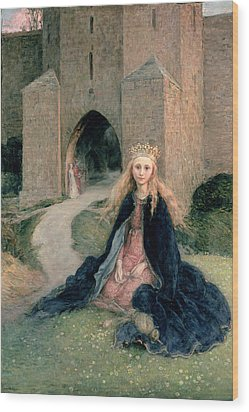 Princess With A Spindle Wood Print by Hanna Pauli