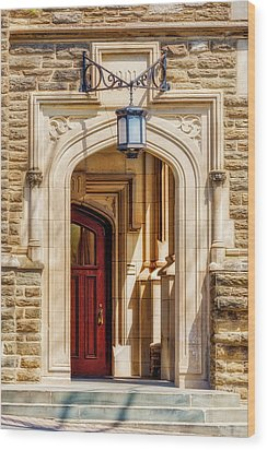 Wood Print featuring the photograph Princeton University 1901 Laughlin Hall by Susan Candelario