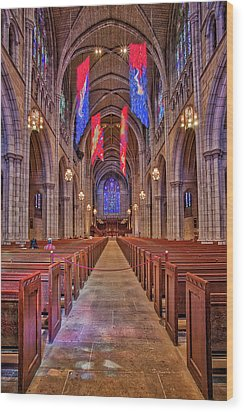 Wood Print featuring the photograph Princeton University Chapel by Susan Candelario