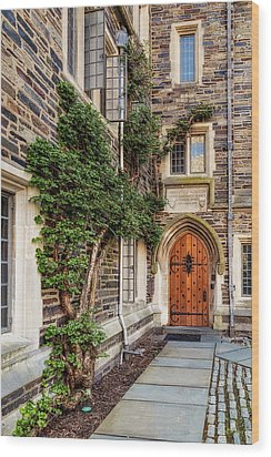 Wood Print featuring the photograph Princeton University Foulke Hall II by Susan Candelario