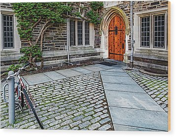 Wood Print featuring the photograph Princeton University Foulke Hall by Susan Candelario