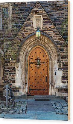 Wood Print featuring the photograph Princeton University Henry Hall by Susan Candelario