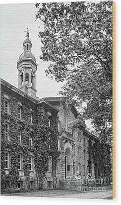 Princeton University Nassau Hall Wood Print by University Icons