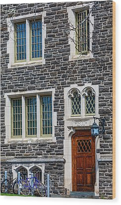 Wood Print featuring the photograph Princeton University Patton Hall No 9 by Susan Candelario