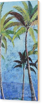 Princeville Palms  Wood Print