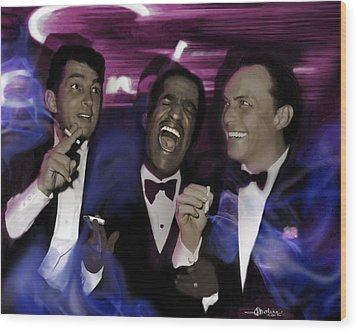 Prismatic Rat Pack Wood Print by Christine Mayfield