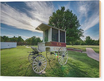 Wood Print featuring the photograph Prison Wagon by James Barber