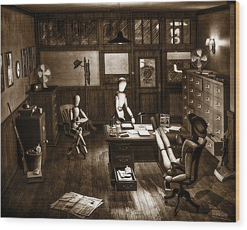 Private Eye Wood Print by Bob Orsillo