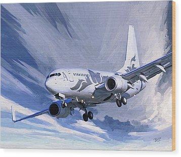 Private Jet M-ybbj Wood Print