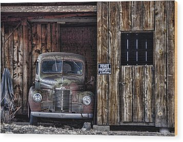 Private Parking Wood Print by Ken Smith