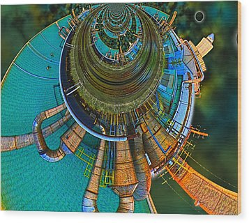 Processing Point 2 Wood Print by Wendy J St Christopher