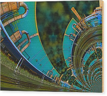Processing Point 3 Wood Print by Wendy J St Christopher