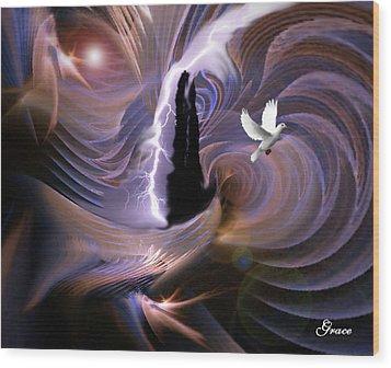 Proclaiming The Glory Wood Print by Julie Grace