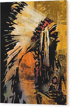 Profile Of Pride Wood Print by Paul Sachtleben