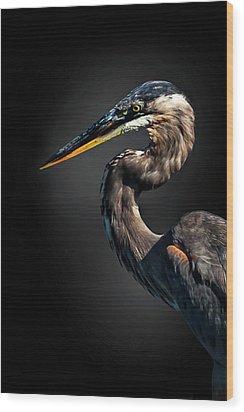 Profiles In Grey Wood Print by Cyndy Doty