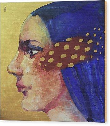 Profilo Di Donna Wood Print by Alessandro Andreuccetti