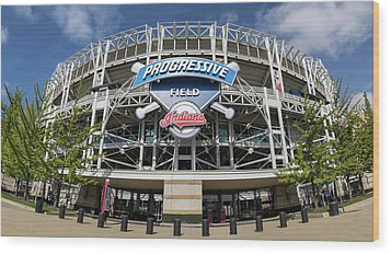 Wood Print featuring the photograph Progressive Field by Dale Kincaid