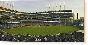 Progressive Field Wood Print by Tim  Telep