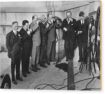 Prohibition Wet Congressmen Drinking Wood Print by Everett