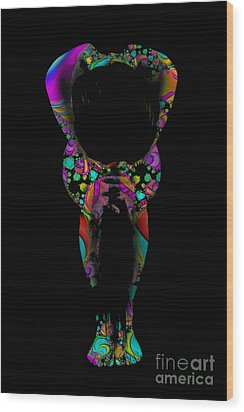 Projected Body Paint 2094995a Wood Print by Rolf Bertram