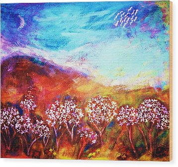Wood Print featuring the painting Promise by Winsome Gunning