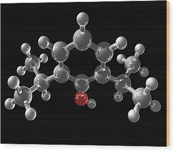 Propofol Molecule Wood Print by Laguna Design