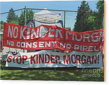 Wood Print featuring the photograph Protest Signs by Bill Thomson