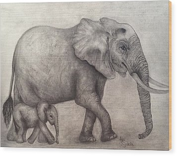 Proud Mama Wood Print by Annamarie Sidella-Felts